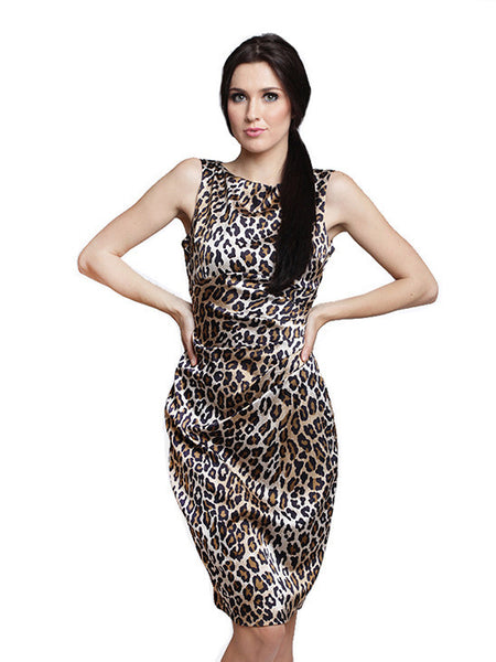 Cache - Buy: Leopard Sheath Dress-The Dresscodes - 1