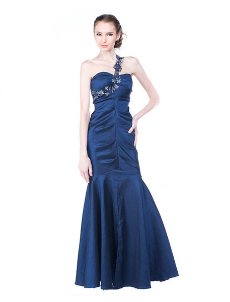 Cache - Rent: Cache Metallic Blue Mermaid Gown-The Dresscodes - 1