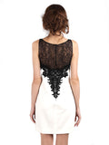 Carmen Marc Valvo - Rent: Black Lace on White-The Dresscodes - 2