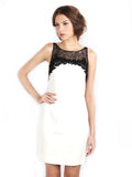 Carmen Marc Valvo - Rent: Black Lace on White-The Dresscodes - 1