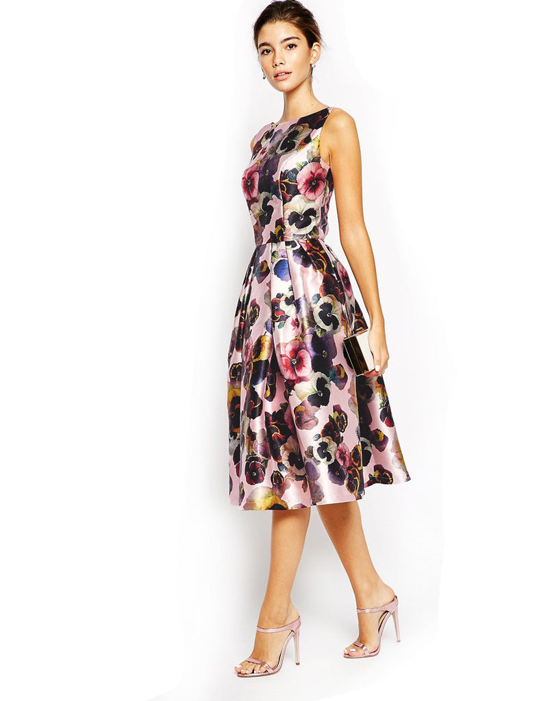 Chi Chi London - Rent: Chi Chi London Floral Midi Dress-The Dresscodes - 1