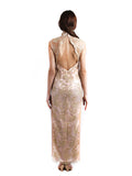 Chinoiserie - Buy: Backless Golden Cheongsam-The Dresscodes - 2