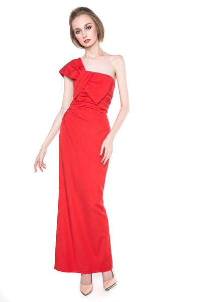 Coast London - Rent: Coast London Red Ainslee Dress-The Dresscodes - 1
