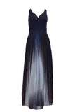 Rent: Coast London - V-Neck and Pleated with Gradiant Color Skirt Dress