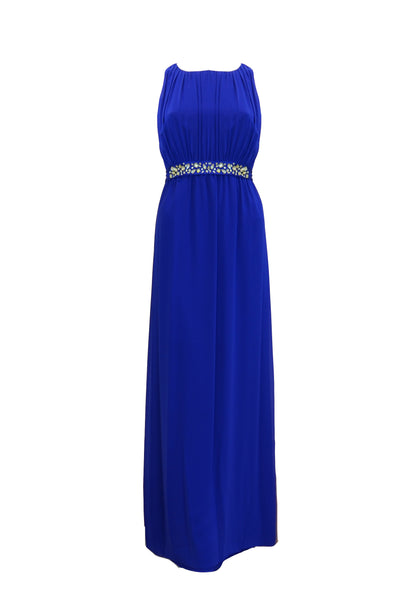 Rent: Coast London - Blue Chiffon Dress with Beaded Band