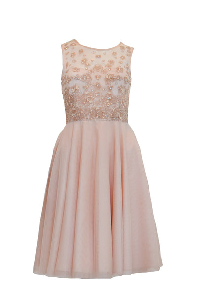 Rent: Coast London - Pink Beaded Tulle Dress