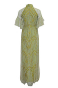 Rent: Private Label - 3/4 Sleeves Green Lace Cheongsam Dress