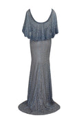 Rent: Blue Beads Cape Gown