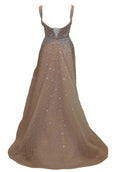 Rent : Rachm Design - Nude V Neck Gown