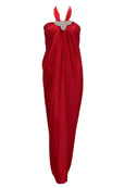 Rent : Selphiebong - Red Halter Satin Dress