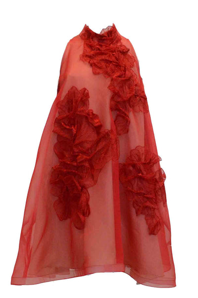 Rent : Private Label - Red Flowers Cheongsam Dress