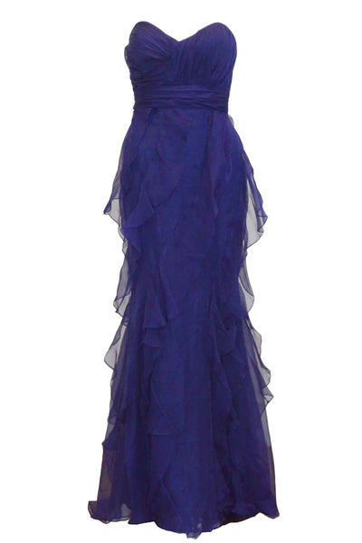Rent : Badgley Mischka - Sweetheart And Ruffles Dress