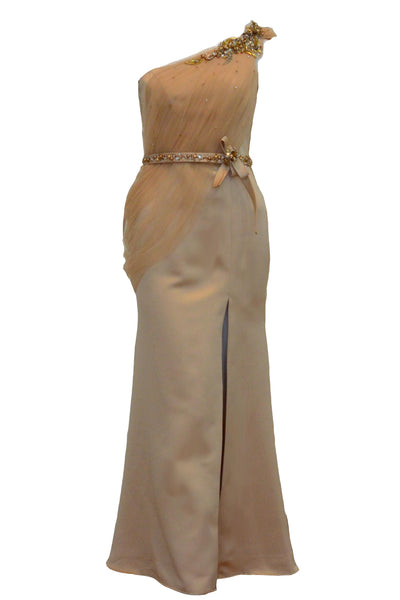 Buy : Yunita Kosasih - One Shoulder Greecian Dress with Belt