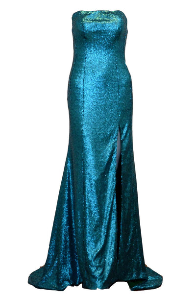 Rent : Cindy Tjan - Blue Strapless Mermaid Gown