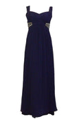Rent : Bariano - Sleeveless Waist Beaded Chiffon Dress