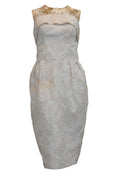 Buy : My Muse By Yofi - Sleeveless Jacquard Cocktail Dress