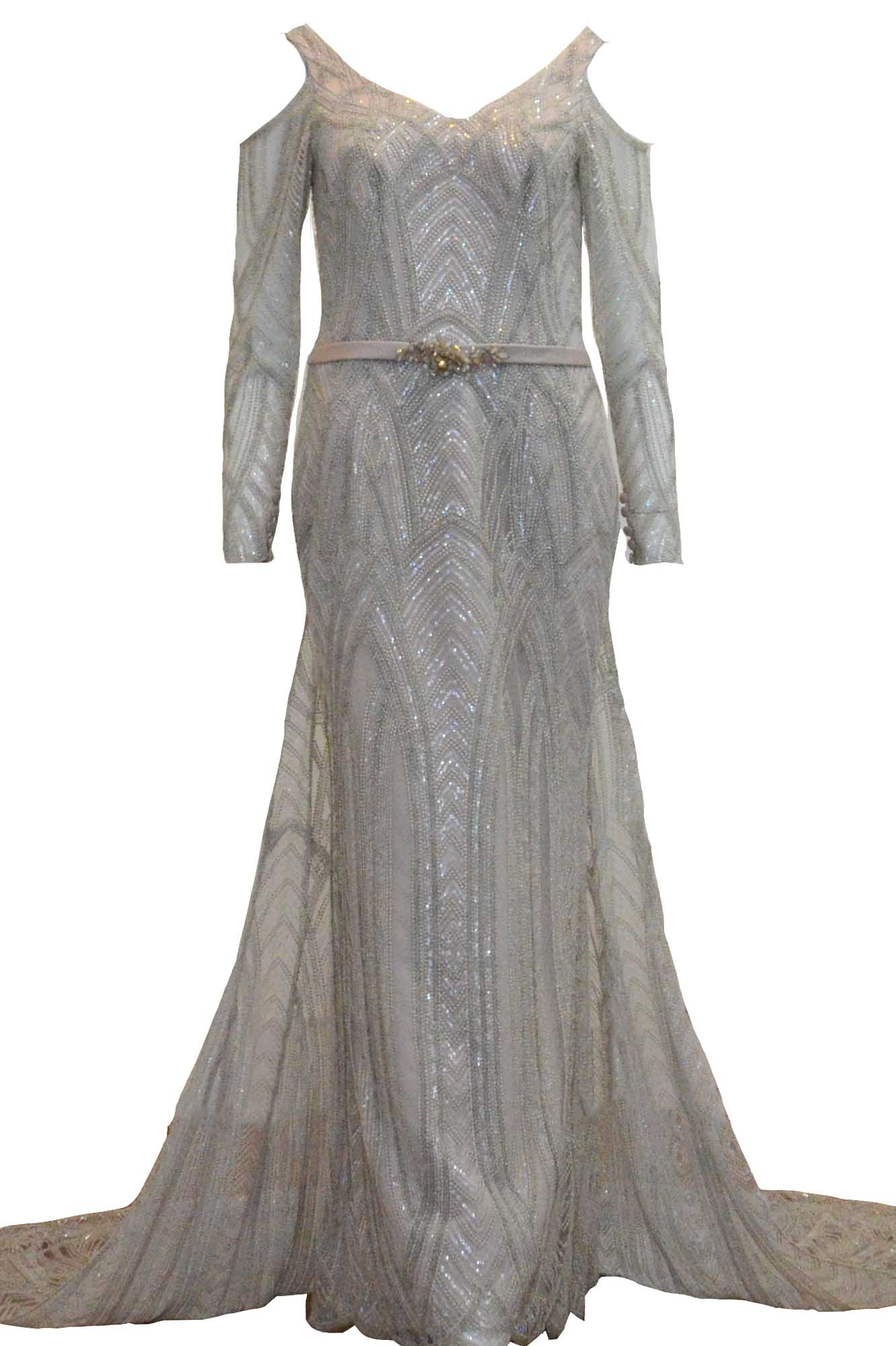 Rent : Rachm Design - Silver Long Sleeves Gown