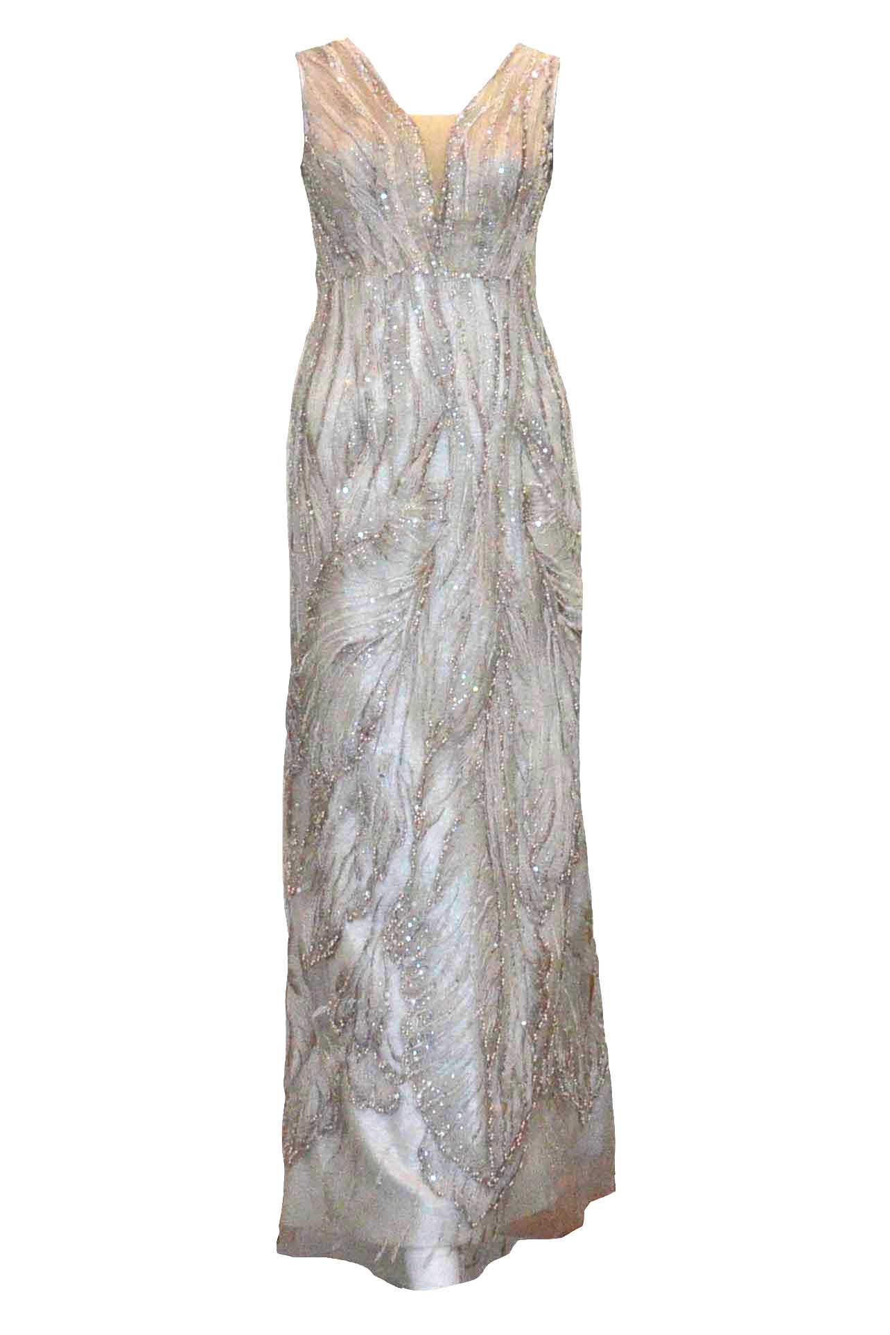 Rent: Didi Budiardjo - Gold Embellishment V Neck Gown