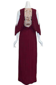Rent: BCBGMaxazria - Maroon Rayah Evening Dress