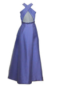 Rent : Monique Lhuillier -  Purple Sleeveless With Backless Dress