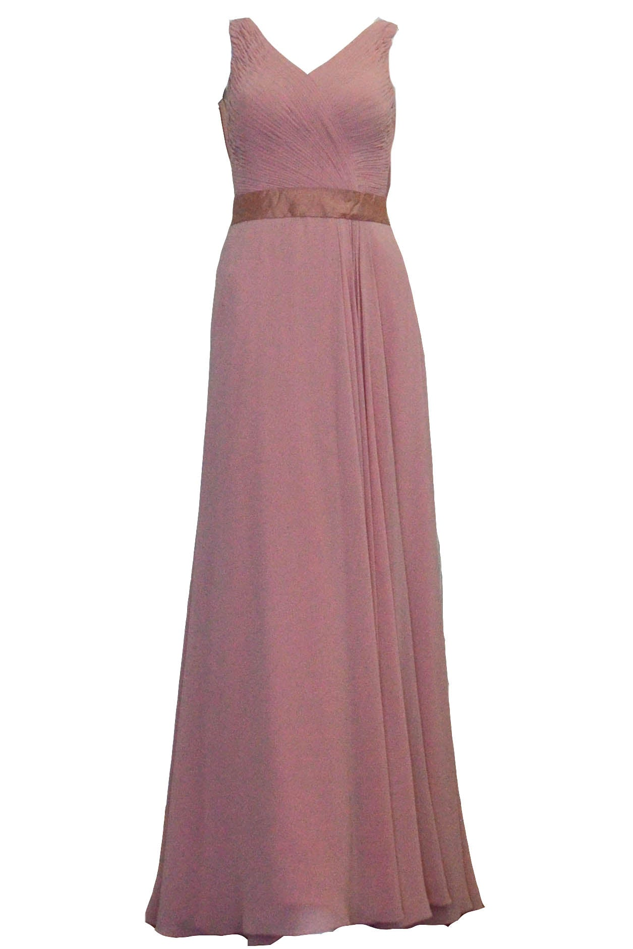 Rent : Indriyani Juwono - Pink Sleeveless Pleated Chiffon Dress
