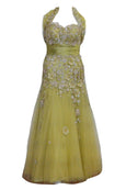 Rent : Private Label - Green Embellishment Gown with Tulle