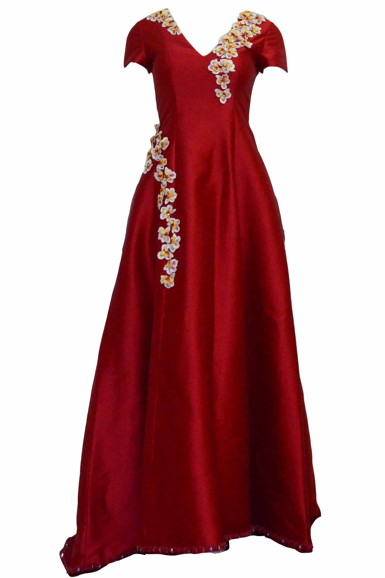 Rent: Gisela Privee - Red V Neck Gown