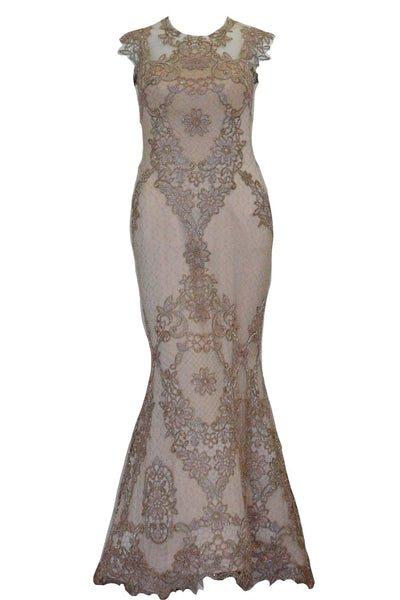 Rent: Didi Budiardjo - Nude Embellishment Mermaid Gown