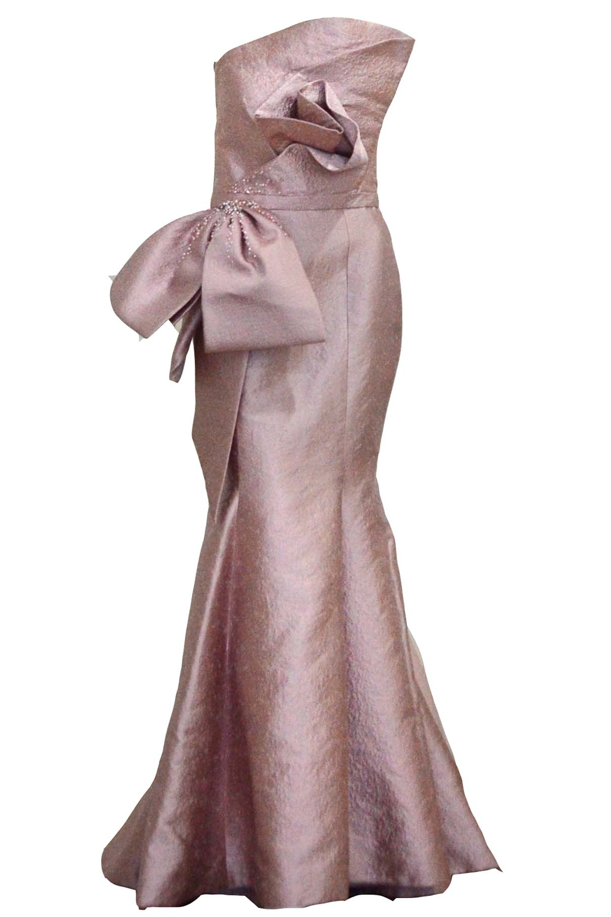 Buy: Anrini Polim - Pink Strapless Mermaid Gown