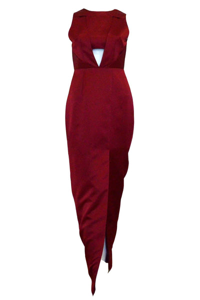 Rent : Michelle Alphonsa - Red Satin Evening Dress