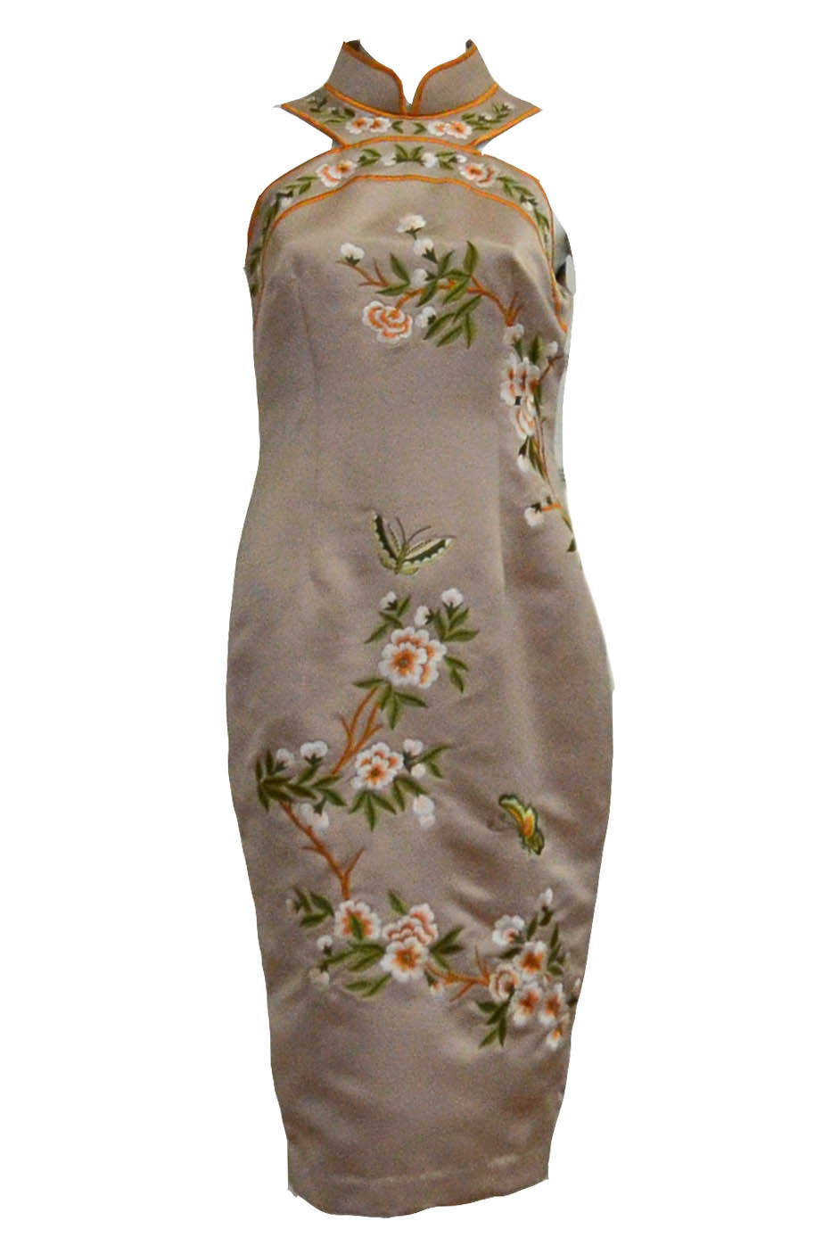 Buy : Sissae Qipao - Embroidery Cheongsam Dress
