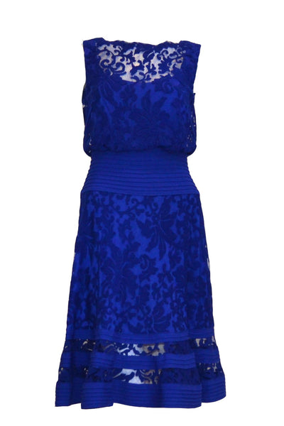 Sale: Tadashi Shoji Blue Sleeveless Cocktail Dress