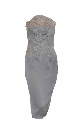 Sale: Faith Hope Love Embroidery Strapless Dress