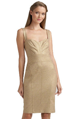 Sale: DVF Jiwon Golden Cocktail Dress