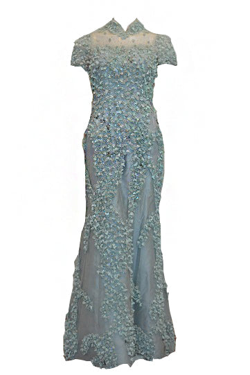 Rent: Didi Budiardjo Short Sleeves Cheongsam Gown