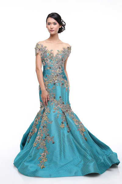 Eddy Betty - Buy: Eddy Betty Tosca Off Shoulder Trumpet Gown-The Dresscodes - 1