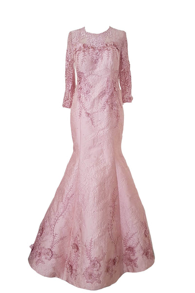 Rent: Eva Kharisma Pink Long Sleeves Mermaid Gown