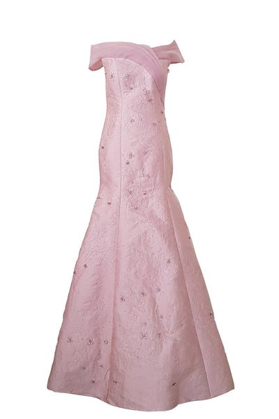 Rent: Eva Kharisma Pink Off Shoulder Mermaid Gown