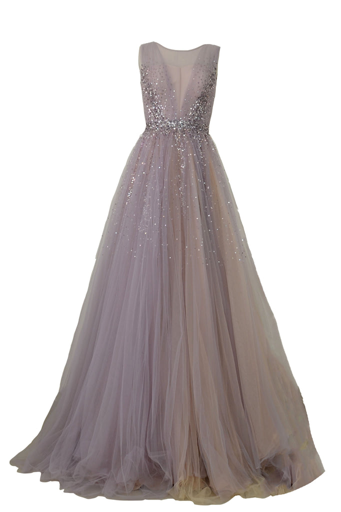 Rent: Faith Hope Love Violet Sleeveless Sequin Tulle