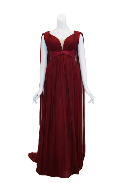 Rent: Felita Wirawan Red Draped Gown