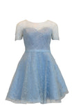 Rent: Fetty Rusli - Sparkly Blue and Sweetheart Short Dress