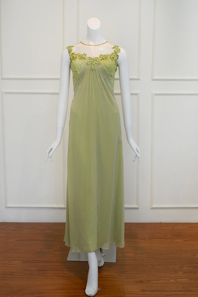Rent: Fluorescence Green Pastel Chiffon Dress