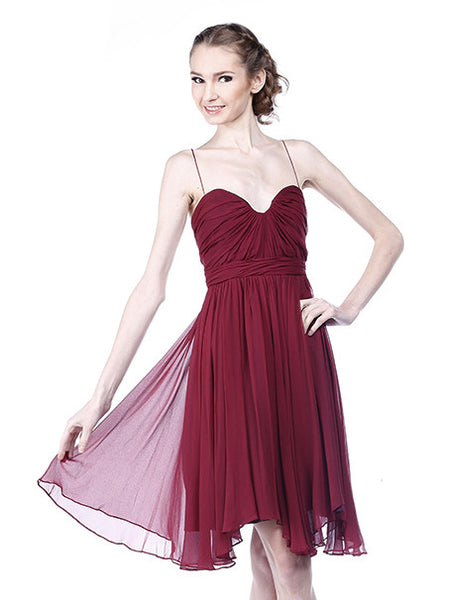 Foley + Corinna - Rent: Foley Corina Maroon Hollywood Dress-The Dresscodes - 1