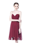 Foley + Corinna - Rent: Foley Corina Maroon Hollywood Dress-The Dresscodes - 2