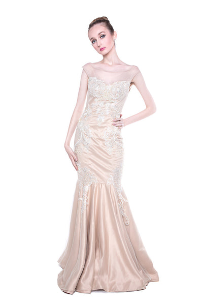 GIA - Buy: Pearl Mermaid Gown-The Dresscodes - 1