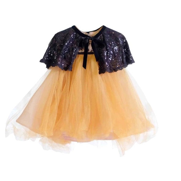 Rent : Georgina Rose - Gold Tulle And Black Flower With Full Sequins Bolero