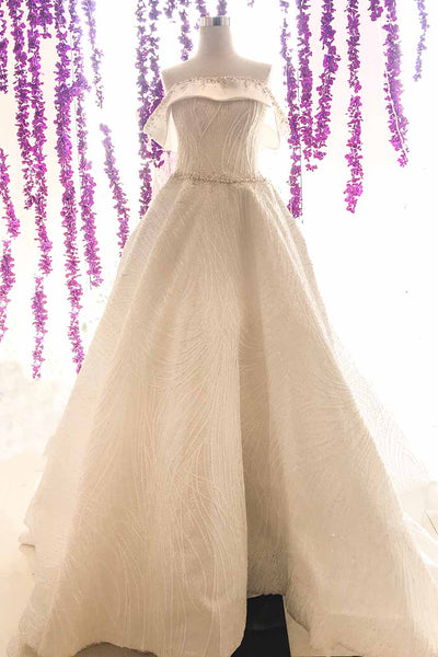 Rent:  Gisela Privee - Wedding Satin Ball Gown