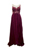 Buy: Gisela Beaded Maroon Evening Gown