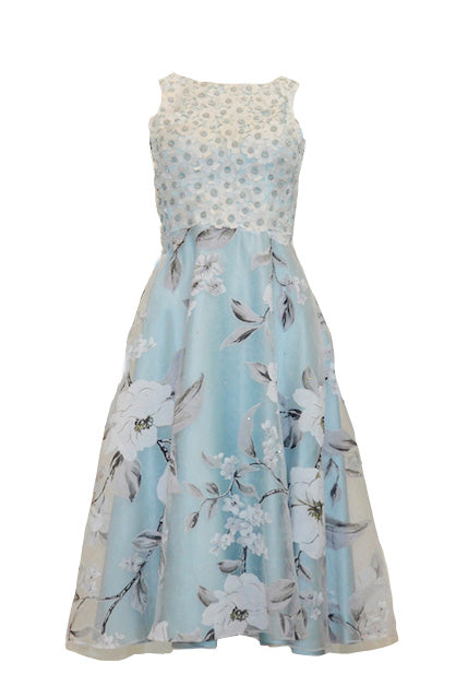 Buy: Gisela Privee Blue Floral Cocktail Dress