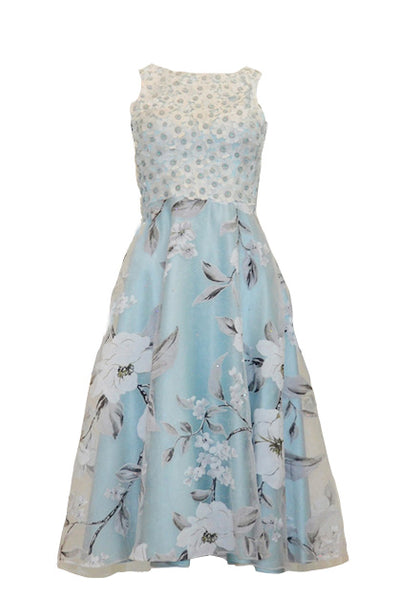 Rent:  Gisela Privee Blue Floral Cocktail Dress